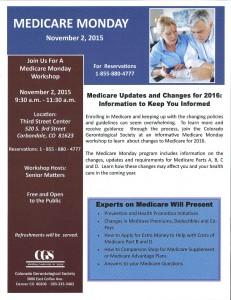 Senior Matters   Medicare Monday @ Calaway Room