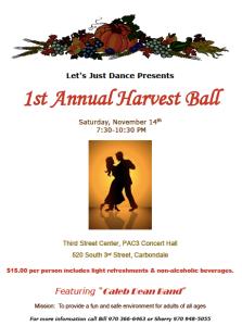 1st Annual Harvest Ball w Caleb Dean Band @ The Gym