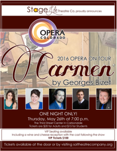 Sol Theatre - The Colorado Opera performs Carmen @ The Gym