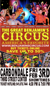 GYM - Great Benjamin's Circus @ 4:30pm and 7:00pm @ Gym